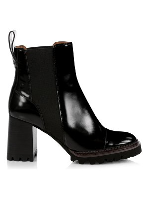 See By Chloe mallory lug-sole leather chelsea boots