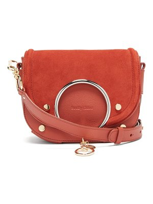 See By Chloe mara leather and suede cross-body bag