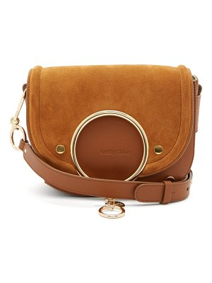 See By Chloe mara small suede and leather cross-body bag