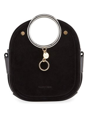 See By Chloe Mara Small Suede Ring Handle Tote Bag