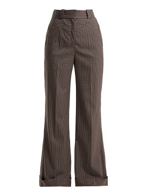 See By Chloe mini check wide leg trousers