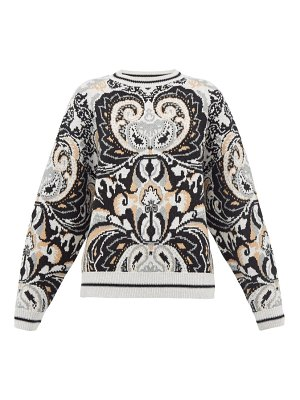 See By Chloe paisley jacquard wool blend sweater