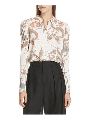 See By Chloe paisley puff sleeve blouse