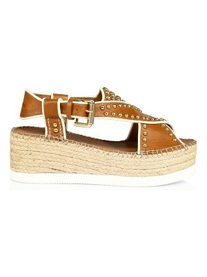 See By Chloe pia studded leather espadrille platform sandals