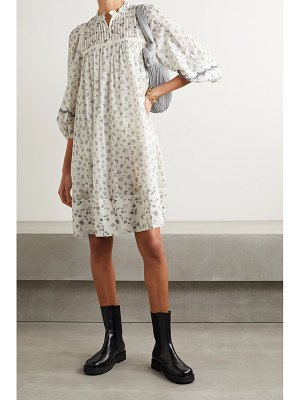 See By Chloe pintucked floral-print cotton dress