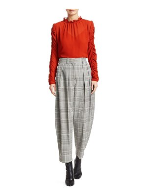 See By Chloe plaid wide-leg trousers