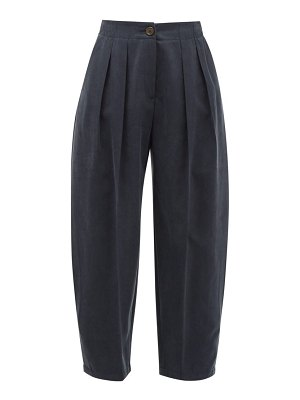 See By Chloe pleated cropped twill trousers