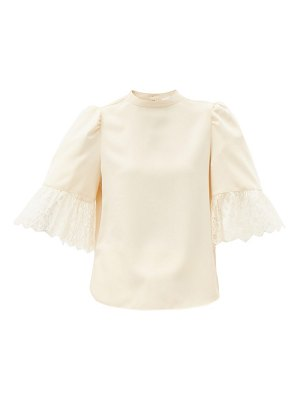 See By Chloe puff-sleeved satin blouse