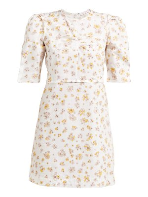 See By Chloe puff-sleeved floral-print cotton mini dress