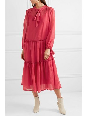 See By Chloe pussy-bow cotton and silk-blend crepon maxi dress