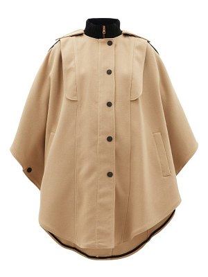 See By Chloe ribbed-collar cotton-blend cape coat