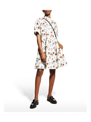 See By Chloe Rose-Print Button-Front Dress