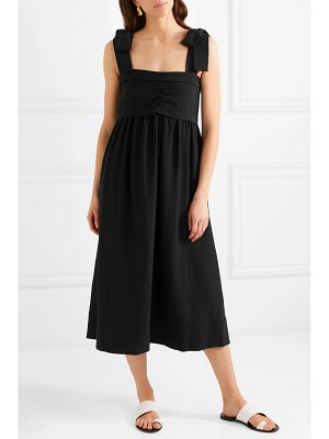 See By Chloe ruched gauze midi dress