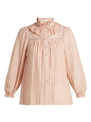 See By Chloe ruffle neck cotton top