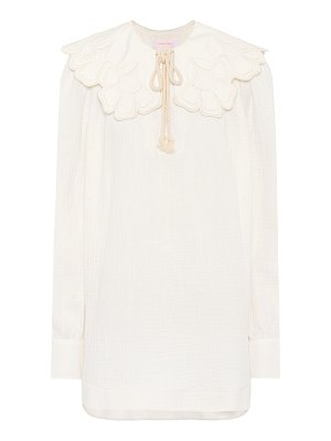 See By Chloe ruffle-trimmed cotton blouse