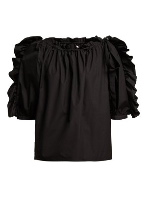 See By Chloe ruffle trimmed cotton top