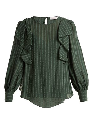 See By Chloe ruffled cotton blend blouse