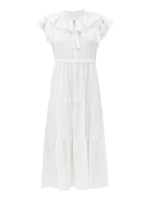 See By Chloe ruffled cotton-voile midi dress
