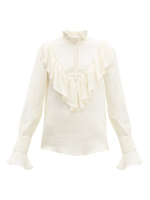 See By Chloe ruffled crepe de chine blouse