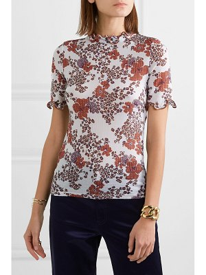 See By Chloe ruffled floral-print stretch-gauze top