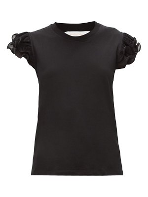 See By Chloe ruffled-sleeve cotton-jersey t-shirt