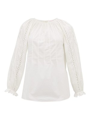 See By Chloe scalloped cotton poplin blouse