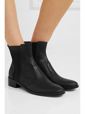 See By Chloe scalloped leather chelsea boots
