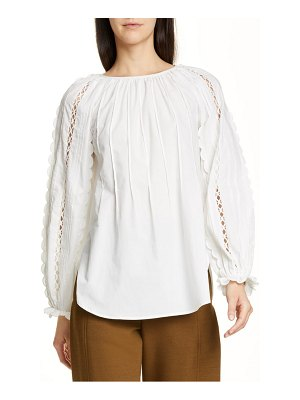 See By Chloe scalloped open trim top