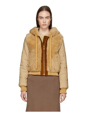 See By Chloe Shearling Bomber Jacket