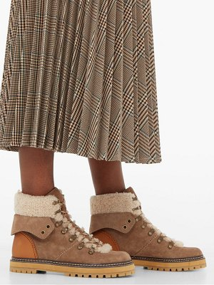 See By Chloe shearling lined suede hiking boots