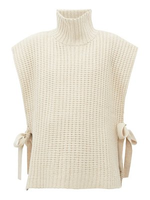 See By Chloe side tie ribbed high neck sweater