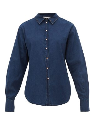 See By Chloe studded cotton chambray shirt