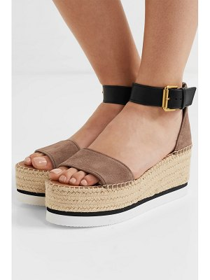 See By Chloe suede and leather espadrille platform sandals