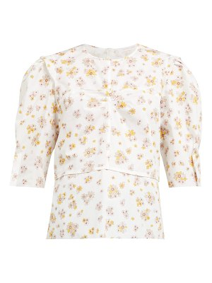 See By Chloe summer floral print cotton blouse