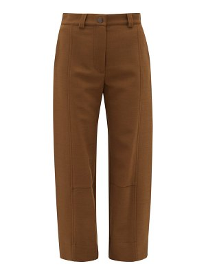 See By Chloe tabbed cuff twill trousers