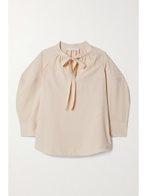 See By Chloe tie-neck crepe blouse
