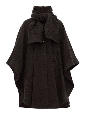 See By Chloe tie neck ribbed wool blend cape