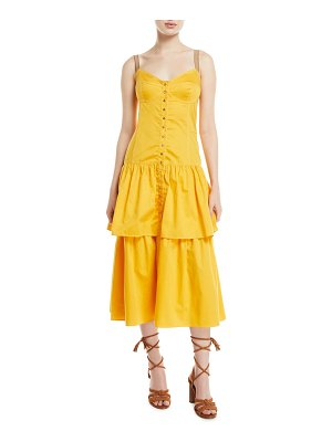 See By Chloe Tiered Cotton Midi Dress