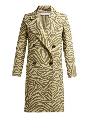 See By Chloe tiger print wool blend coat