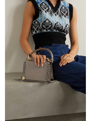 See By Chloe tilda mini whipstiched suede and leather tote