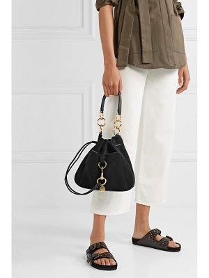 See By Chloe tony suede and textured-leather bucket bag