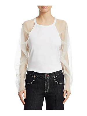 See By Chloe tulle sleeve t-shirt