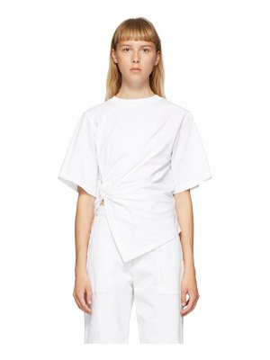 See By Chloe white draped knot t-shirt