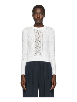 See By Chloe white lace fitted sweater