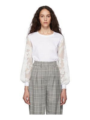 See By Chloe white lace long sleeve t-shirt