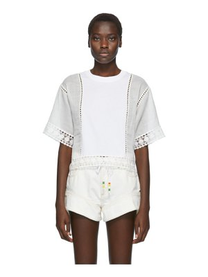 See By Chloe white lace panelled blouse