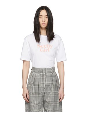 See By Chloe white see by girl t-shirt