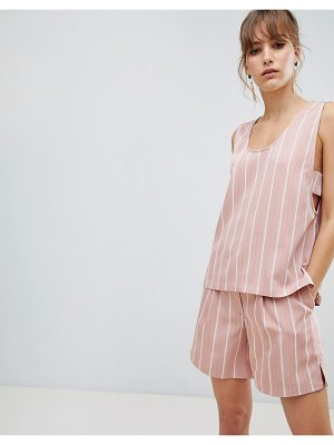Selected femme stripe sleeveless top two-piece-pink