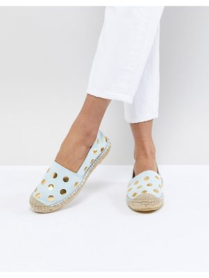 Selected Femme Suede Espadrille With Metallic Print