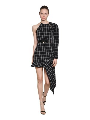 self-portrait Asymmetrical check dress